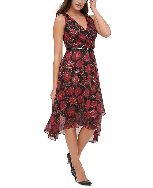 Tommy Hilfiger Floral Chiffon Midi Dress