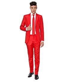 Men's Solid Red Color Suit