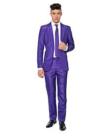 Men's Solid Purple Color Suit