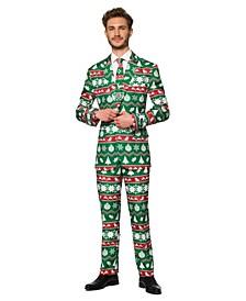 Men's Christmas Green Nordic Christmas Suit