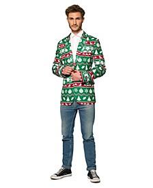 Men's Christmas Green Nordic Christmas Blazer