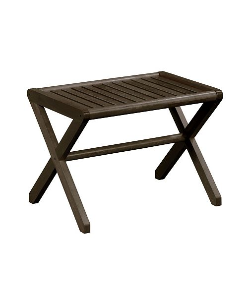New Ridge Home Goods Abingdon Large Stool/Bench