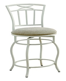 "Corona 24"" Metal Counter Stool with Upholstered Seat"