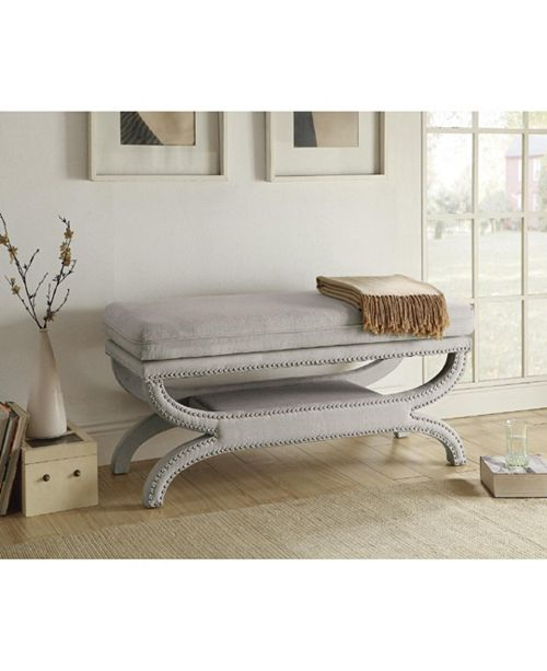 Coaster Home Furnishings Rafael Fully Upholstered Bench with Nailhead Trim