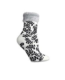 Women's Leaves Cinnamon Infused Lounge Socks