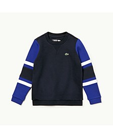 Little and Big Boys Sport Color Block Sweatshirt