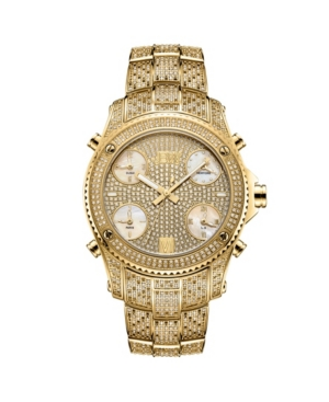 Men's Jet Setter Platinum Series Diamond (3 ct. t.w.) 18K Gold-Plated Stainless Steel Watch