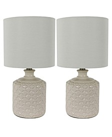 Decor Therapy Della Led Table Lamps Set of 2