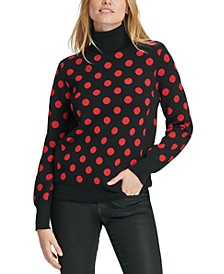 Sequined Polka-Dot Sweater