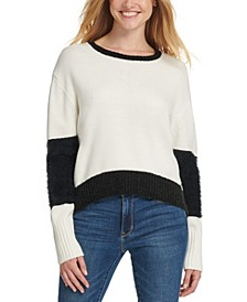 Oversized Eyelash-Trim Sweater