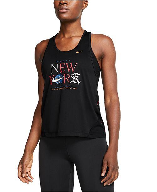 Nike Women's Miler NYC Marathon Tank Top