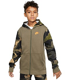 Big Boys Sportswear Full-Zip Fleece Hoodie