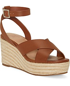 INC Women's Lemona Crisscross PlatForm Wedges, Created For Macy's