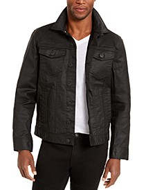 INC Men's Regular-Fit Coated Stretch Denim Trucker Jacket, Created for Macy's