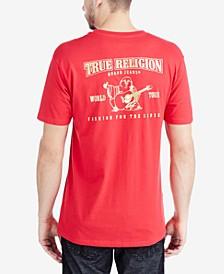 Men's Metallic Logo Graphic-Print T-Shirt