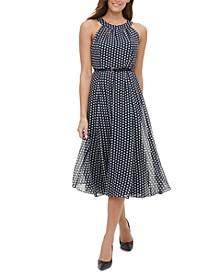 Dot Belted Dress