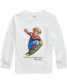 Toddler Boys Ski Bear Cotton Jersey T-Shirt
