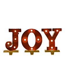 "8.46"" H Joy Stocking Holder Set"