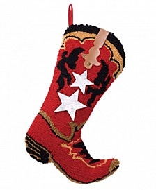 "19"" H Boot Hooked Stocking"