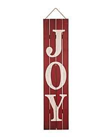 "42"" H Christmas Joy Wooden Porch Sign"