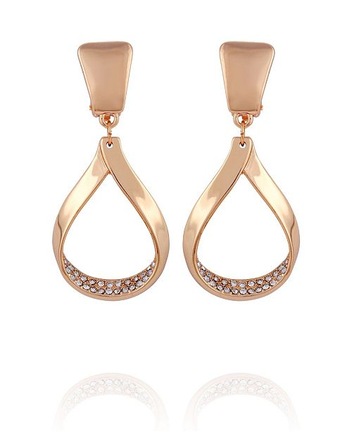 T Tahari Wrapped in Ribbons Clip Drop Earring