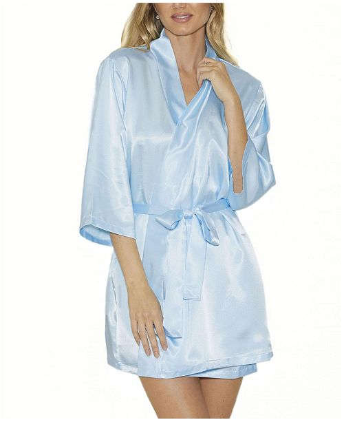 iCollection Satin Ultra Soft Lounge Robe, Wrap