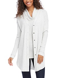 Long Button-Up Cardigan