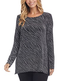 Metallic Zebra Print Top