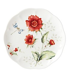 Butterfly Meadow Red Dragonfly Accent Plate, Created for Macy's
