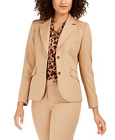 Twill Two-Button Blazer