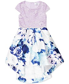 Toddler Girls Lace & Floral-Print High-Low Dress