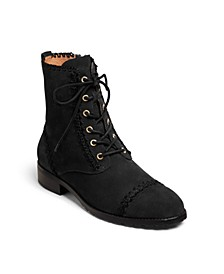 Gemma Lace Up Booties