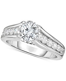 TruMiracle® Diamond Cathedral Engagement Ring (1-1/2 ct. t.w.) in 14k White Gold