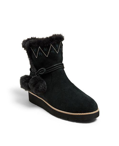 Jack Rogers Vera Suede Pom Pom Boots