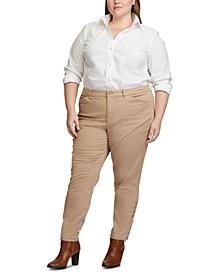 Plus Size Stretch Chino Jodhpur Pants