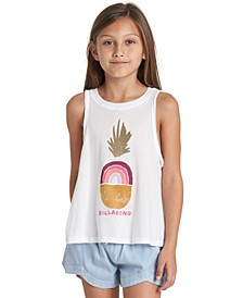 Big Girls Rainbow Pineapple-Print Tank Top