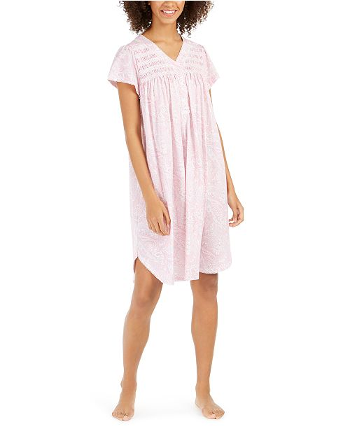 Miss Elaine Women's Printed Knit Nightgown