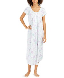 Women's Floral-Print Long Nightgown