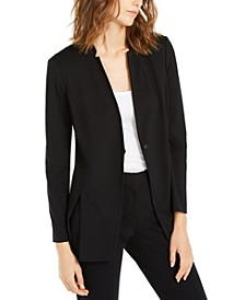 One-Button Slit Blazer Jacket, Created For Macy's