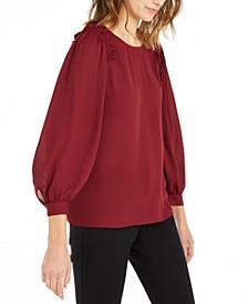 Ruffled Blouson-Sleeve Top, Created For Macy's
