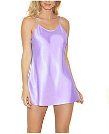 Women's Satin Chemise Nightgown, Online Only