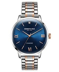 Men's Two Tone Stainless Steel Bracelet Watch, 42mm