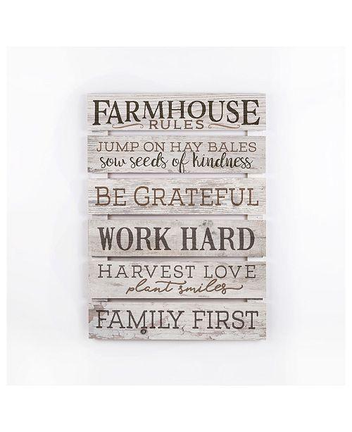 P Graham Dunn Farmhouse Rules Wall Art