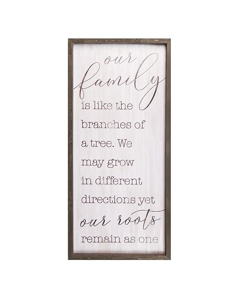 P Graham Dunn Our Family Is Like The Branches Of A Tree Wall Art