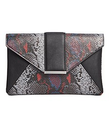 INC Luci Python-Embossed Envelope Clutch, Created for Macy's