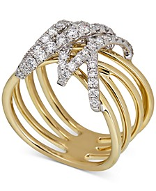 Diamond Wrap Multi-Row Statement Ring (3/4 ct. t.w.) in 14k Gold & White Gold