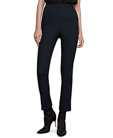 Cropped Straight-Leg Pants