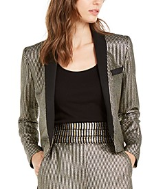 Cher Metallic-Striped Jacket