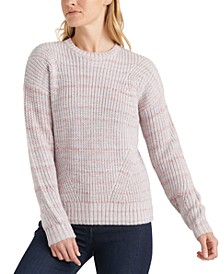 Marled-Knit Crewneck Sweater