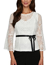 Petite Illusion Lace Top